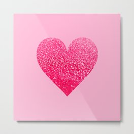 PINK PINK HEART Metal Print
