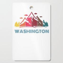 Retro Mountain Washington Design  for Men Women and Kids Cutting Board
