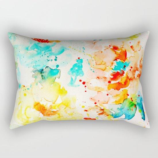 Abstract Flowers 05 Rectangular Pillow