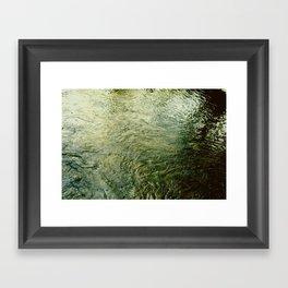 Water's texture Framed Art Print