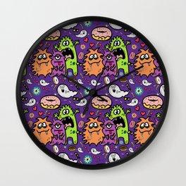 Greedy Monsters Wall Clock