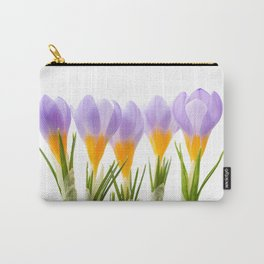 Group of blue crocuses Carry-All Pouch