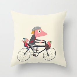 Biker Daddy Throw Pillow