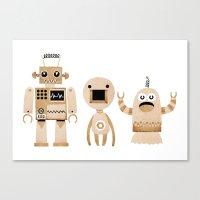 robots Canvas Prints featuring ROBOTS by Riku Ounaslehto