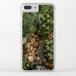 GREEN HEART Clear iPhone Case