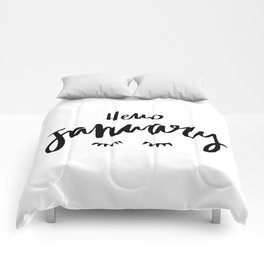 Hello january Comforters