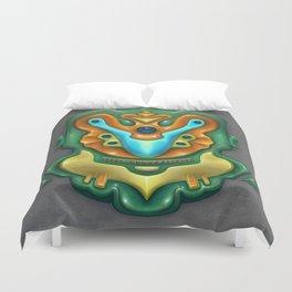 Summer Totem Green Duvet Cover