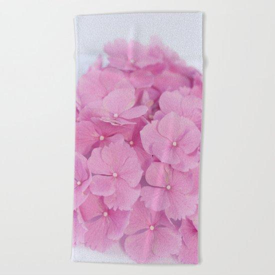 Light-Pink Hydrangeas #1 #decor #art #society6 Beach Towel