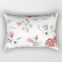 Autumn Floral Pattern Rectangular Pillow