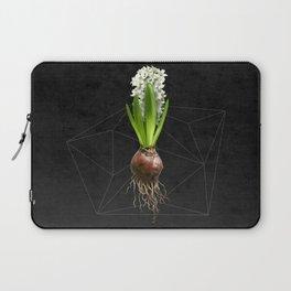 White Hyacinth Hydroponics (tryptic 2/3) Laptop Sleeve