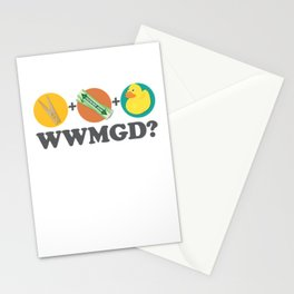 Peg + Gum + Duck = What would MacGyver Do? Stationery Cards