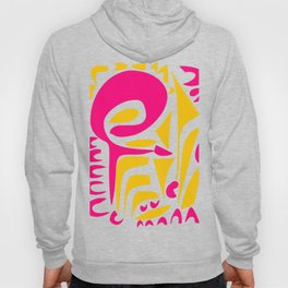 Summer Pop abstract pattern pink and yellow Hoody