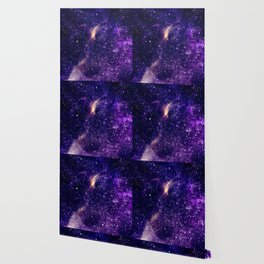Ultra violet purple abstract galaxy Wallpaper