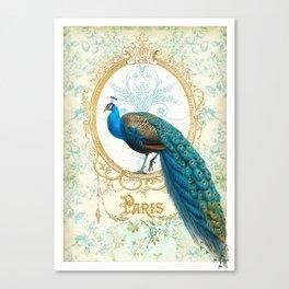 Paris Peacock Canvas Print
