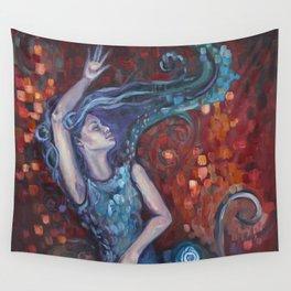 Red Ocean Wall Tapestry