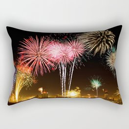 Leipzig Germany Fireworks On New Year's Eve Rectangular Pillow