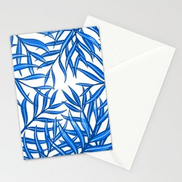Palm Fronds in Blue Mk1 Stationery Cards