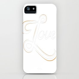 Cool Love Hand Lettering iPhone Case