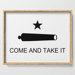 Texas Come and Take it Flag Serving Tray