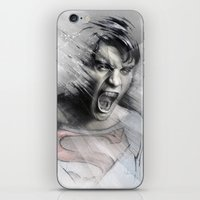 superheroes iPhone & iPod Skins featuring Superheroes SF by Alexis Marcou