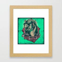 Hyena Man Framed Art Print