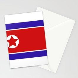 north korea flag Stationery Cards