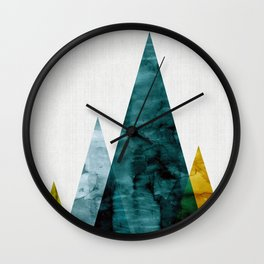 Landscape watercolor collage VII Wall Clock