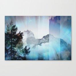 Boreal Lights on the Mountains Canvas Print