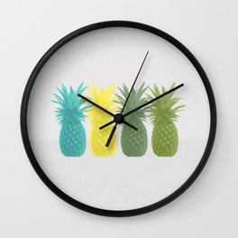 Overlapping Pineapples Wall Clock