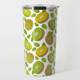 Kiwifruit Pattern White Travel Mug