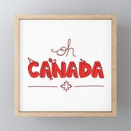 Oh Canada Day (Handlettered) Framed Mini Art Print
