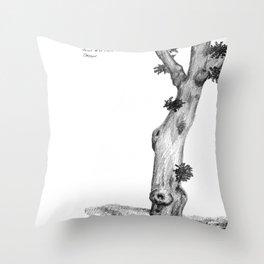 Gnarly Oak Tree Throw Pillow