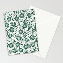Foliage green Stationery Cards