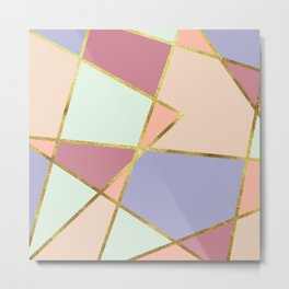 candy geometric Metal Print