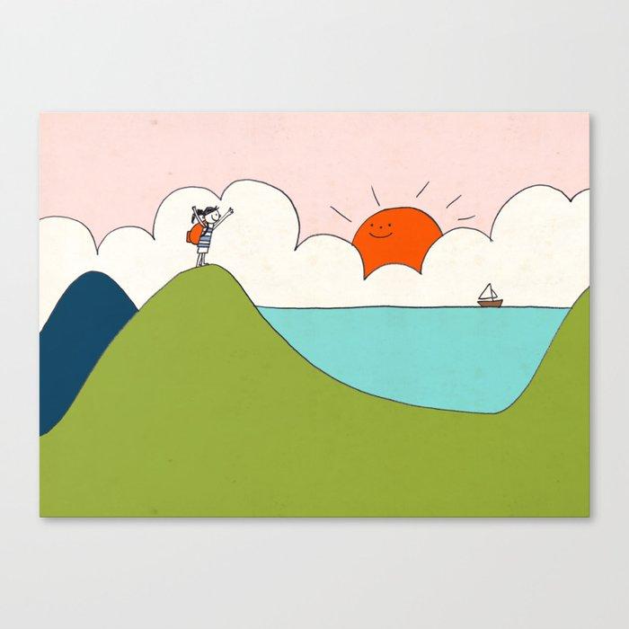 hiker Canvas Print