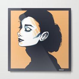 Bold Audrey Metal Print