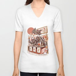 Kaiju street food Unisex V-Neck