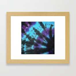Tie Dye Swirl Framed Art Print