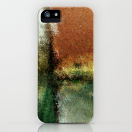 Focal Point Earth Tone Digital Painting iPhone Case