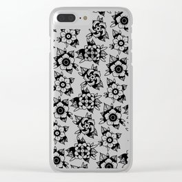trad flowers Clear iPhone Case