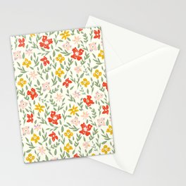 Fun Bright Botanical Floral Stationery Cards