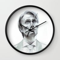 hannibal Wall Clocks featuring Hannibal by Hash