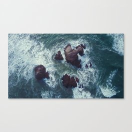 Raging Sea Canvas Print