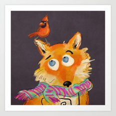 Hello You Mr Fox Art Print