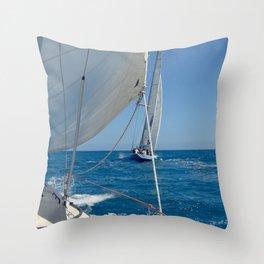America's Cup ~ St. Maarten Throw Pillow