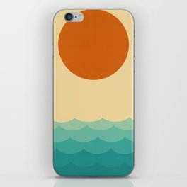 Sun and waves iPhone Skin