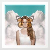 lana del rey Art Prints featuring Lana Del Fly by Wyatt Worker