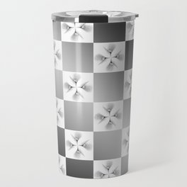 Pussy Checkerboard Abstract Travel Mug
