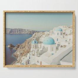 Santorini in Greece Serving Tray