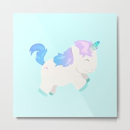 Baby Unicorn Metal Print